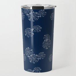 Shibori Scatter - Blue Travel Mug