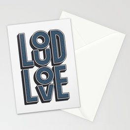 LOUD LOVE Stationery Cards