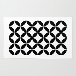 Geometric Pattern #65 (circles) Rug