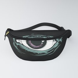 """I See You"" Black Pattern Fanny Pack"