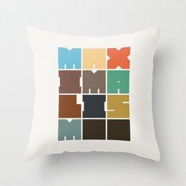 MAXIMALISM.. (Colors) Throw Pillow