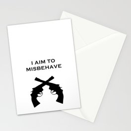 Aim to Misbehave Stationery Cards