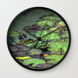 Contemplating the beauty Wall Clock