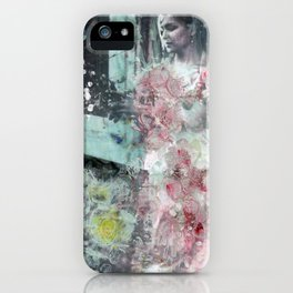 Fading Into Flowers iPhone Case