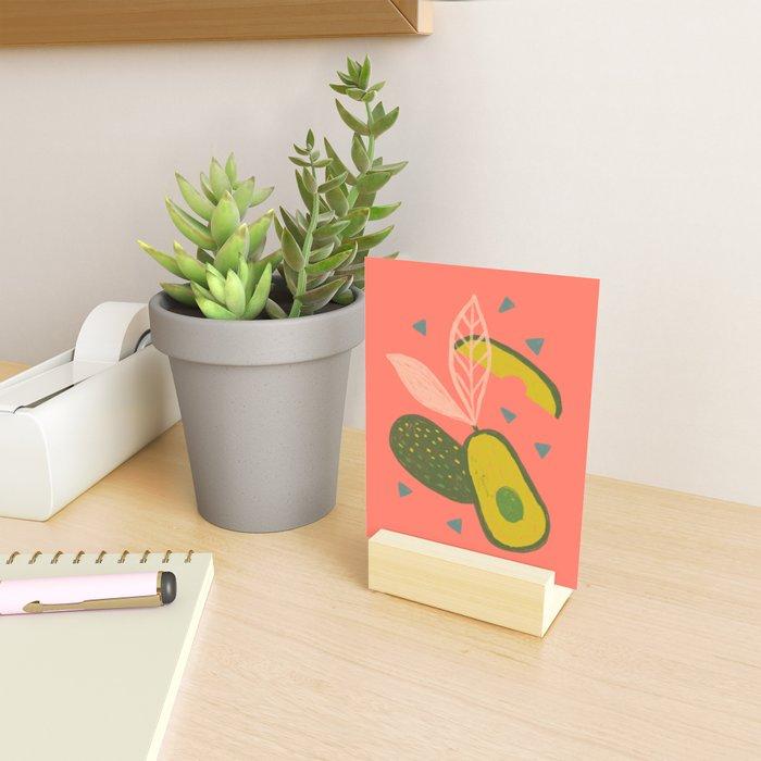 90s Style Avocado Mini Art Print