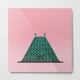 magic roof in Budapest (green) Metal Print