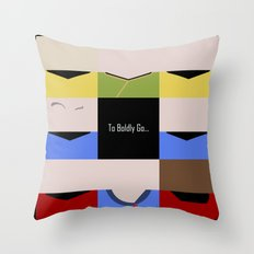 To Boldy Go - square - Star Trek The Original Series TOS - startrek Trektangle Kirk Spock Bones  Throw Pillow
