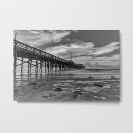 Northside Newport Pier Metal Print