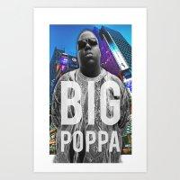 big poppa Art Prints featuring Big Poppa // NY by Lukasjohnsen