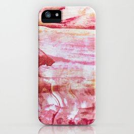 Festive Season 3     #holidays #Christmas #painting #gold #abstract iPhone Case