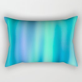 Mermaid Lake - Blue Green Aesthetic Rectangular Pillow