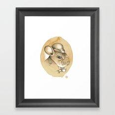 Gentleman Chinchilla Framed Art Print