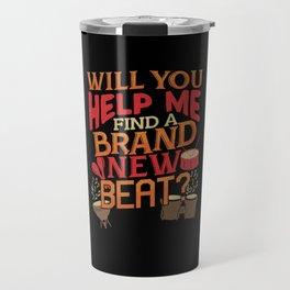 Drumbeat design for Drummers & Beat makers Travel Mug