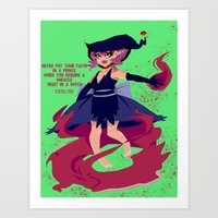 Witchy Girl Art Print