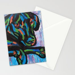 Colorful Lab Puppy Stationery Cards