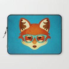 Hipster Fox: Azure Laptop Sleeve