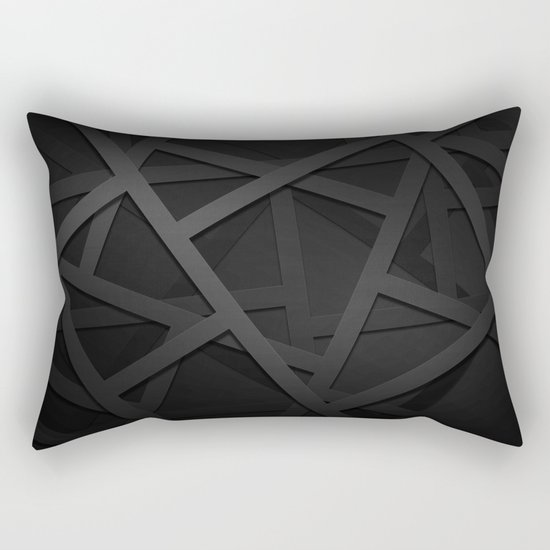 Black Web Rectangular Pillow