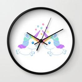 Unicorn Twins Wall Clock