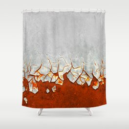 Rust and Grey Shower Curtain