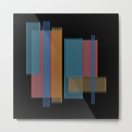 Vertical Blur 8 Metal Print