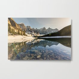 Moraine Sunset Metal Print