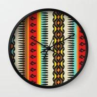 ethnic Wall Clocks featuring Ethnic by Katya Zorin