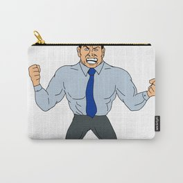 Angry Businessman Cartoon Carry-All Pouch