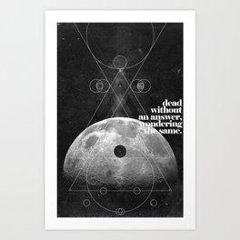 Answer Art Print