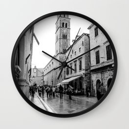 European City Street | Charming Architecture Dome Tower Skyline Building Cityscape Streets Wall Clock
