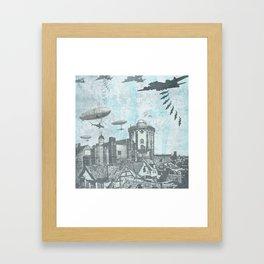 Shark Bomb Framed Art Print