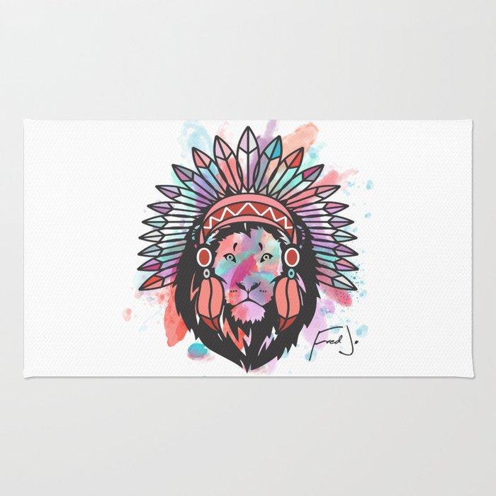 Indian Lion Rug