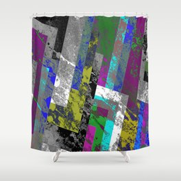 Textured Exclusion II Shower Curtain