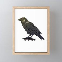 Crow Contemplation Framed Mini Art Print