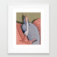 blanket Framed Art Prints featuring Blanket by Geckojoy