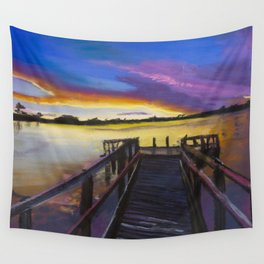Shelley Bridge Sunset Wall Tapestry