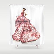 Slight Arc Watercolor Fashion Illustration Shower Curtain