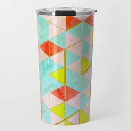 Marble Triangle Tile Barcelona Travel Mug