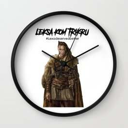 Commander Leksa kom Trikru Wall Clock