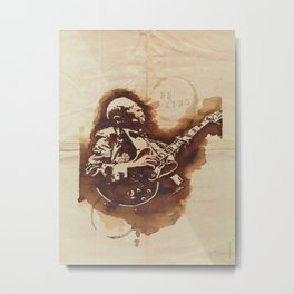 BB King Ilustracafe Metal Print