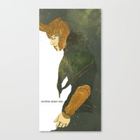 loki Canvas Prints featuring Loki  by Pulvis