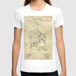 Industrial Farmhouse Blueprint Camera T-shirt