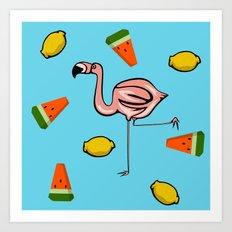 Flamingo Tropical Art Print