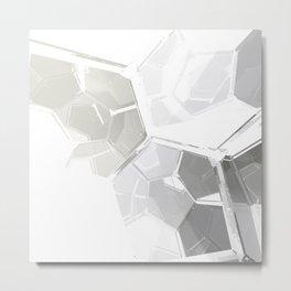 White Fractal Metal Print