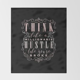 Think like a Millionaire Throw Blanket
