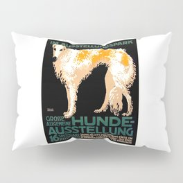 Vintage German Dog Show Advertising Poster Pillow Sham
