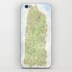 Puerto Rico watercolor map iPhone & iPod Skin