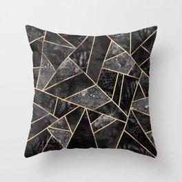 Black Stone 2 Throw Pillow