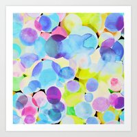 polka dot Art Prints featuring Polka Dot by Amy Sia
