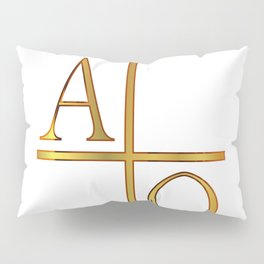 Alpha Omega Golden Image Pillow Sham