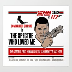 The Spectre Who Loved Me Art Print